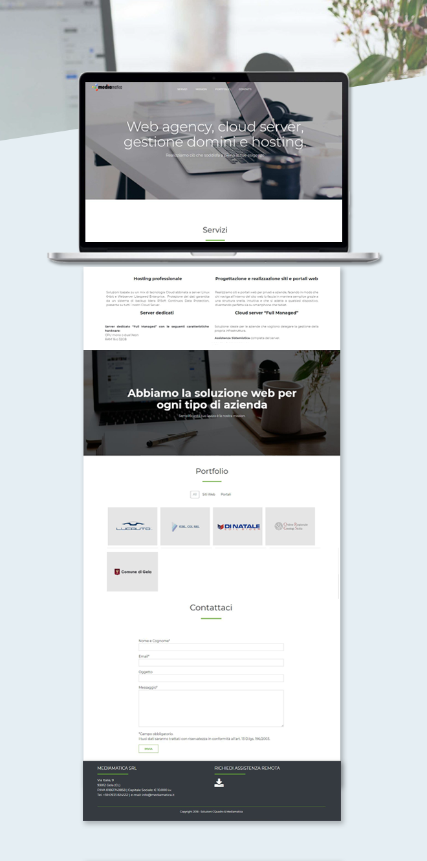 Mediamatica – Sito Web one page custom