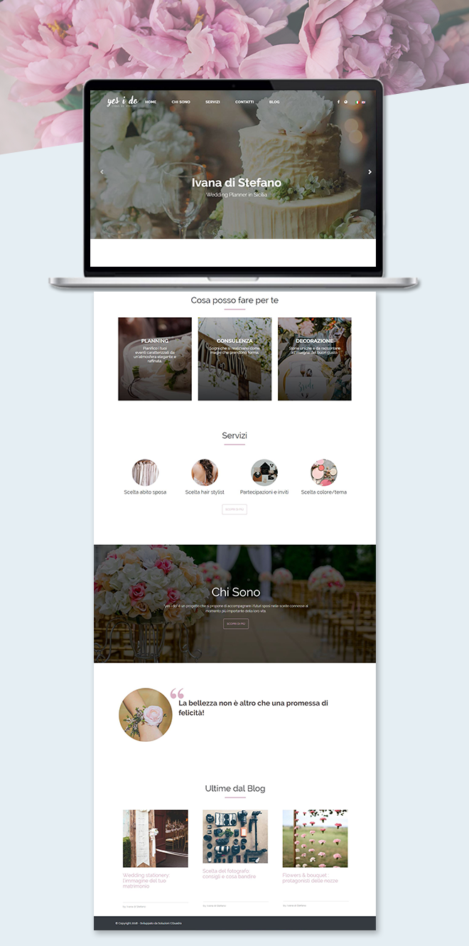 Ivana di Stefano Yes i do – Sito web wedding planner