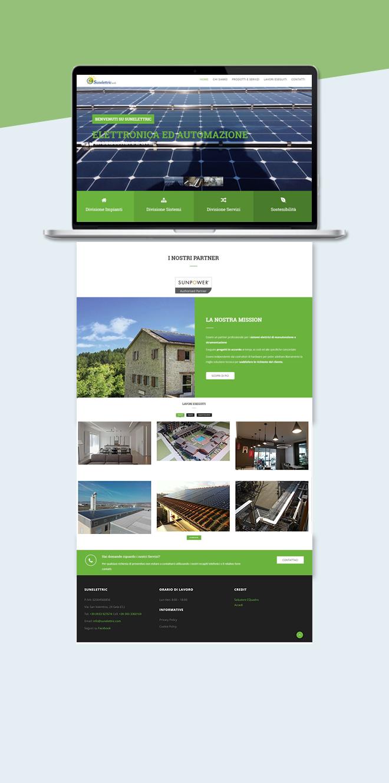 Sunelettric – Sito web aziendale multipagina