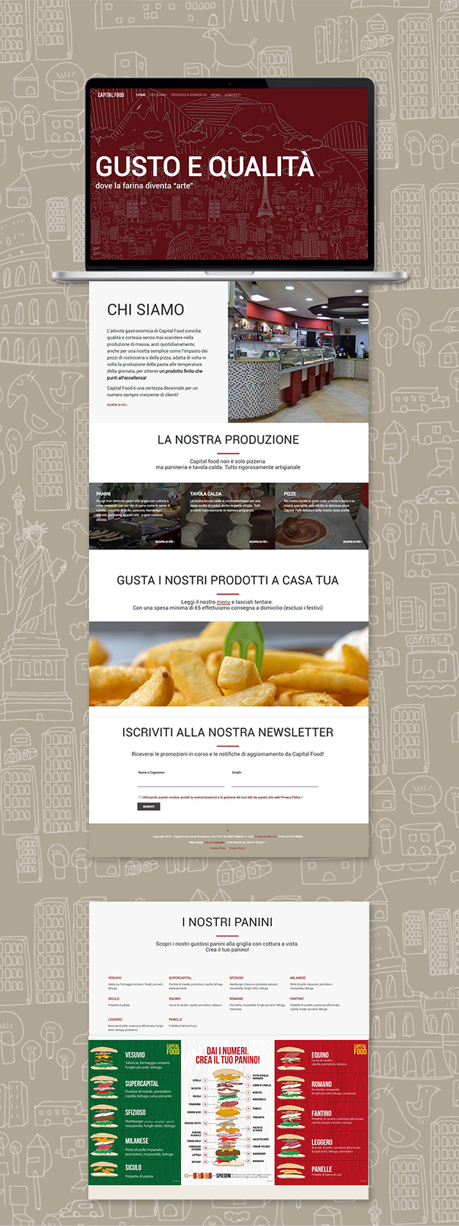 CAPITAL FOOD – tema custom multipagina