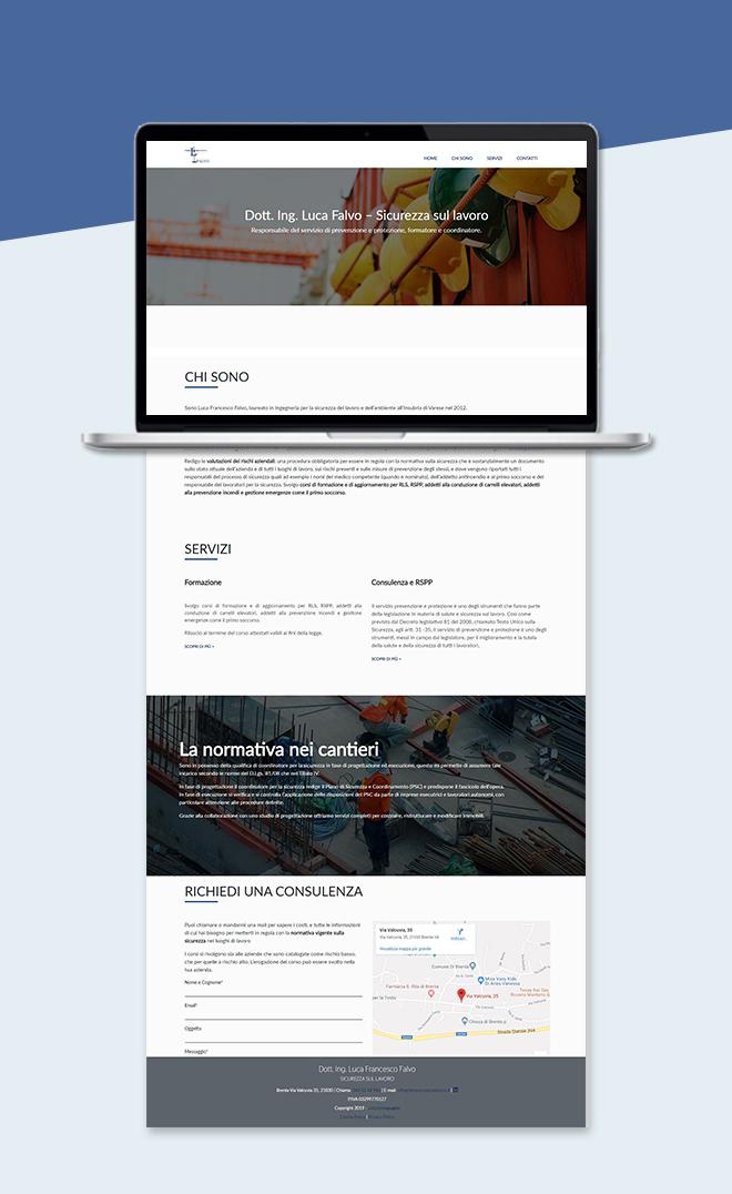 Falvo Sicurezza Lavoro – Sito Web tema custom one page