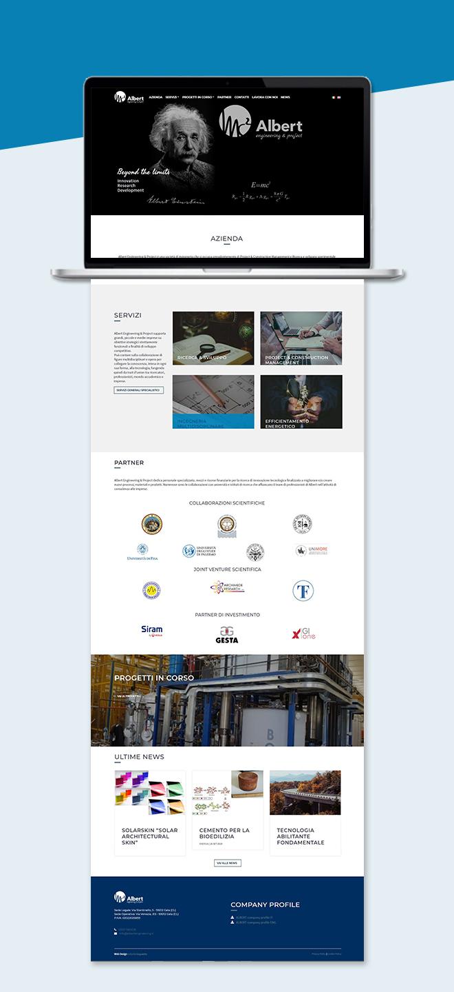 Albert Engineering – tema custom multipagina