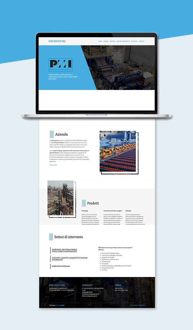 PMI Pizzardi Montaggi Industriali – Sito web aziendale tema custom