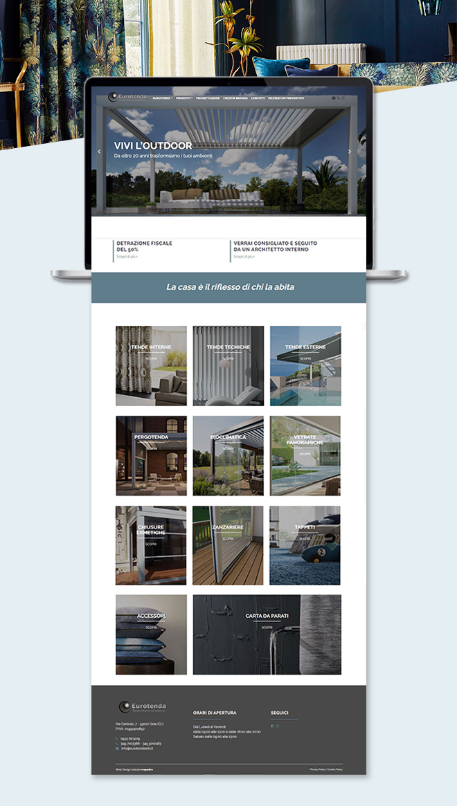 Eurotenda – sito web custom multipagina