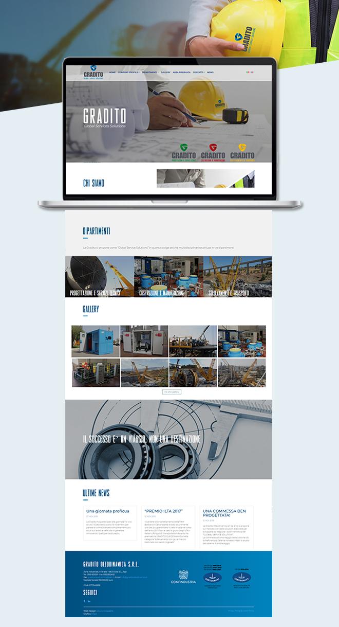 Gradito Oleodinamica – tema custom multipagina