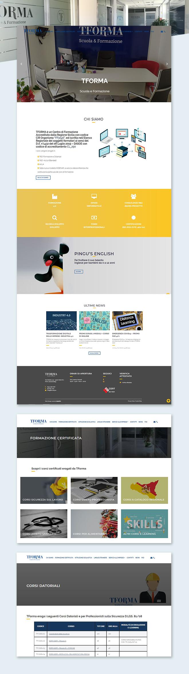 TFORMA Scuola e Formazione tema custom multipage